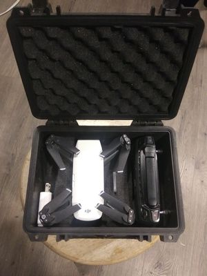 Dji spark drone with controller an pelican case for Sale in Spokane Valley, WA