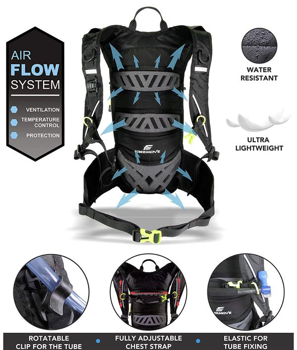 Hydration Pack Backpack with 2 Liter Water Bladder and Cooler Bag,