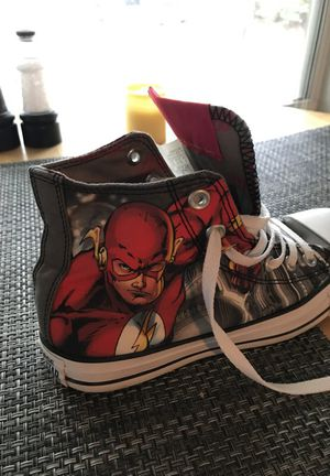 Brand new special edition DC comics the flash Converse sneakers for Sale in Orlando, FL