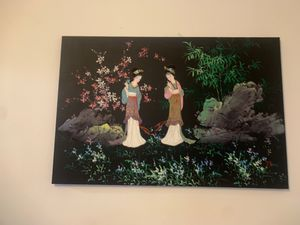 Beautiful Oriental Canvas Painting for Sale in Indianapolis, IN