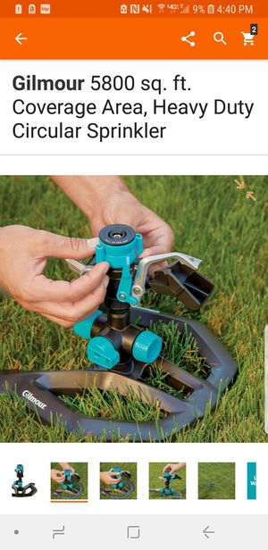 NewinBox Heavy Duty Gilmour 360* Circular Sprinkler up to 5800 sq ft coverage! for Sale in Walnut Cove, NC