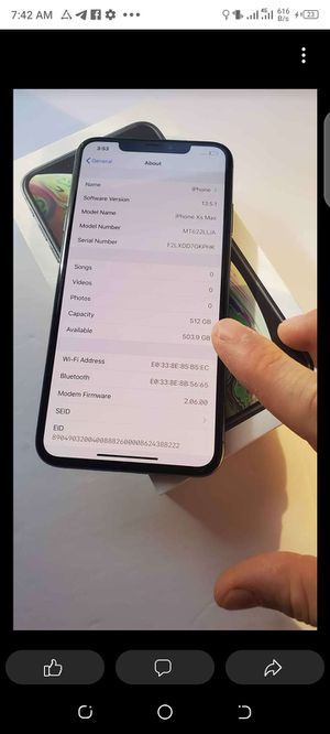 iPhone xs max for Sale in Blandford, MA