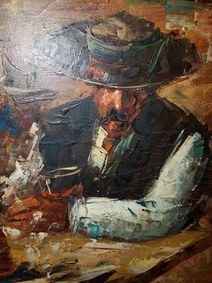 Original Signed Oil Painting by Frank Dressen, larger size 2' x 4' for Sale in Sun City, AZ