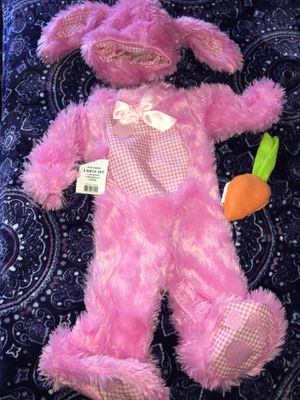 New with tag's baby girls Halloween costume bunny rabbit with carrot rattle Rubies for Sale in El Cajon, CA