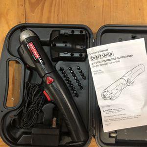 Craftsman 3.6 Volt Cordless Screwdriver for Sale in Virginia Beach, VA