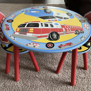 Kids Fire Truck Policy Car Theme Table Chair Set for Sale in Hilliard, OH
