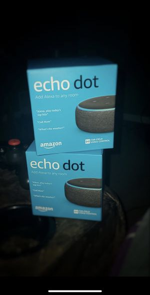 **BRAND NEW** Amazon Echo Dot 2 Pack (or sold individually) for Sale in Palm Bay, FL