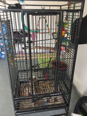 Bird cage w accessories for Sale in Wylie, TX