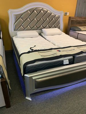 KING size LED light bed!! With promotional mattress ask about SpEcial Financing and FREE DELIVERY!!! for Sale in DW GDNS, TX