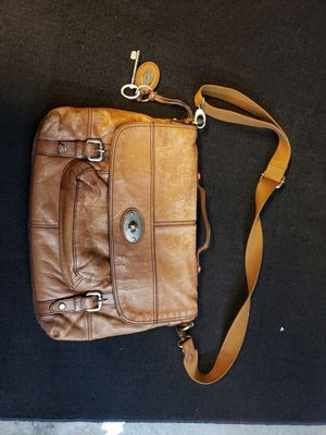 Fossil crossbody messenger bag leather for Sale in Missouri City, TX
