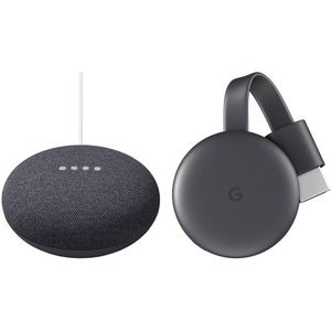 Google2nd-Generation Nest Mini & 3rd-Generation Chromecast Kit (Charcoal) for Sale in Los Angeles, CA