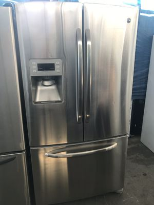 $550 Bottom Freezer STAINLESS steel 28 cu fridge refrigerator w/ free delivery & guaranty for Sale in Los Angeles, CA