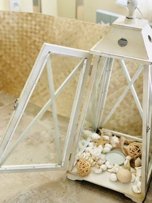 Wood lantern / candle holder for Sale in Tampa, FL