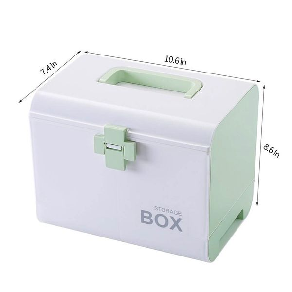 New Cute Girls Room Decor Storage Box With Drawers Divider Handle Plastic Desktop Organizer For Makeup Toy Household