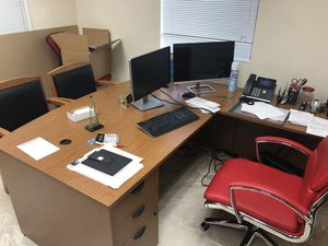 Complete office desk and file drawers for Sale in Tamarac, FL