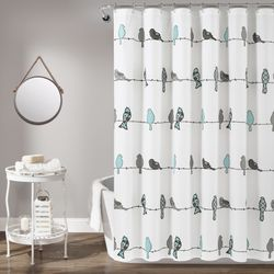Lush Decor Rowley Birds Animal Print Polyester Shower Curtain, 72x72, Blue/Gray, Single for Sale in Houston,  TX