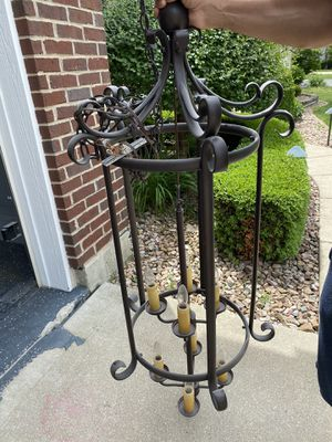 Foyer oil rubbed bronze chandelier for Sale in Woodridge, IL