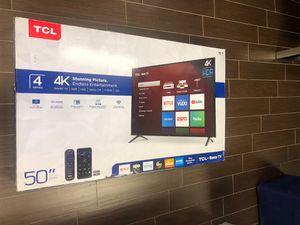 Brand New TCL 50 inch 4K HDR Smart TV New In Box for Sale in Davie, FL
