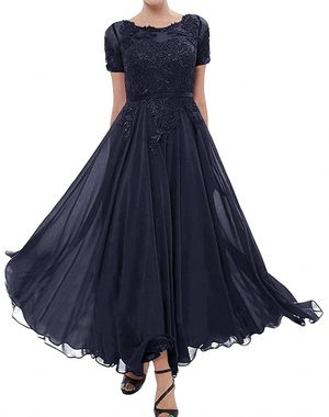 🥂NWT! Navy Blue Dress w Lace Appliqué size 14 for Sale in Long Beach, CA
