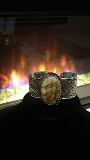 Multi colored gemstone 925 stamped cuff for Sale in Gibsonton, FL
