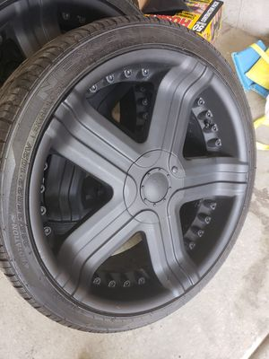 22 inch wheels and tires for Sale in Magna, UT