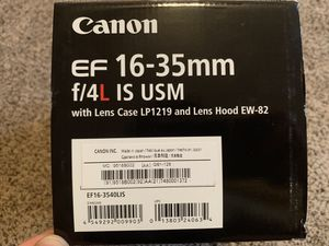 Canon EF 16-35mm F/4L IS USM for Sale in Ontario, CA