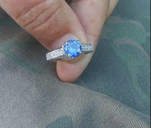 Genuine 1-Carat Tanzanite + W-Topaz Ring for Sale in Denver, CO
