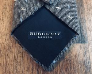 BURBERRY Gray Tan & Blue Woven Wool Tie for Sale in San Diego, CA