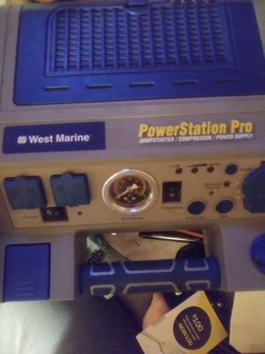 WEST MARINE POWER STATION PRO JUMPSTARTER/COMPRESSOR/POWER SUPPLY $50.00 for Sale in Tampa, FL