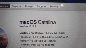 Macbook Pro Retina 15-inch , Mid 2015 for Sale in Sully Station, VA