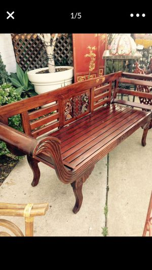 Solid rosewood bench for Sale in San Diego, CA