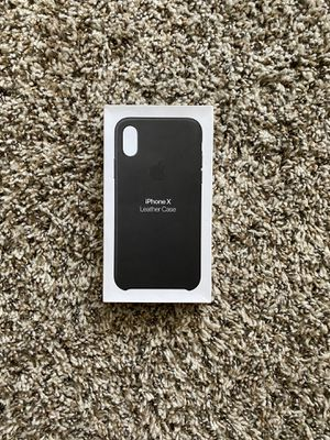 iPhone X Leather Case - Black for Sale in South Gate, CA