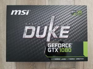 MSI NVIDIA GTX 1080 8GB DUKE for Sale in San Jose, CA