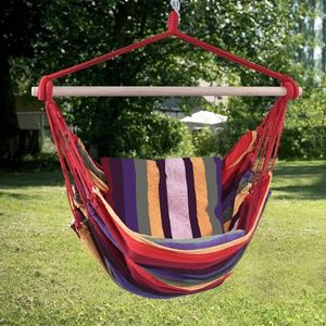 B14- Hammock Rope Chair Patio Porch Yard Tree Hanging Air Swing Red for Sale in Los Angeles, CA