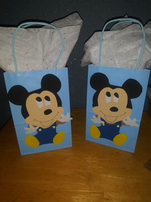 Baby mickey mouse candy bags / gift bags baby shower for Sale in San Antonio, TX