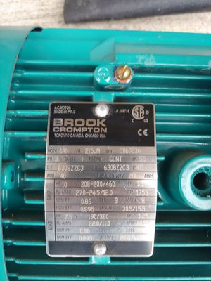 Brook crompton punp motor for Sale in Lacey Township, NJ