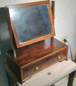 1700s Vanity Mirror Mahogany Wood Cabinet for Sale in McDonald,  PA