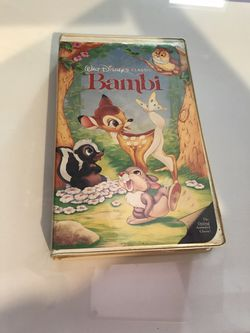Bambi VHS black diamond edition movie from Disney for Sale in Las Vegas,  NV