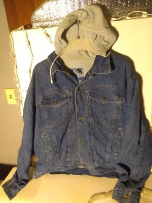 2XL Vintage original 100% cotton inside and hoodie denim jacket By Today's News for Sale in Chicago, IL