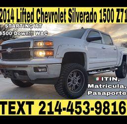 2014 LIFTED CHEVROLET SILVERADO LTZ Z71 for Sale in Fort Worth,  TX
