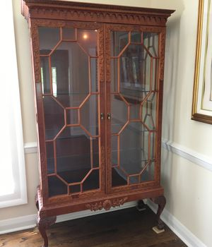 Display Cabinet with glass shelves and light for Sale in Warrenton, VA