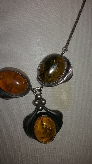 Amber colored necklace for Sale in Broad Run, VA