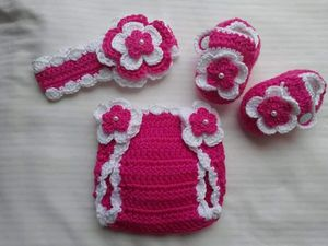 Crochet Baby Girl Diaper Cover Outfit for Sale in Lyons, GA