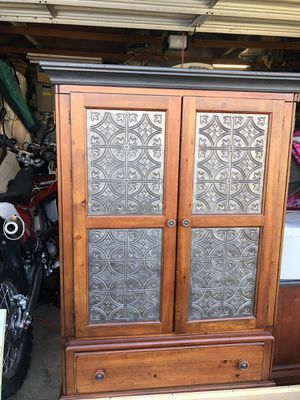 Entertainment Cabinet and Matching Side Table for Sale in Huntington Beach, CA