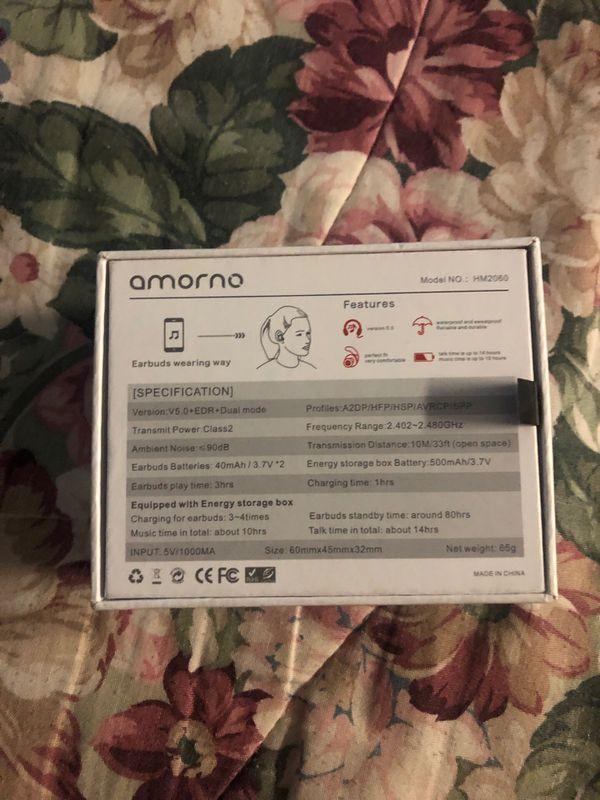 Amorno wireless earbuds
