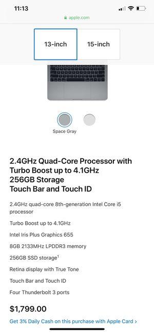 2017 MacBook Pro 13 256gb for Sale in Sacramento, CA