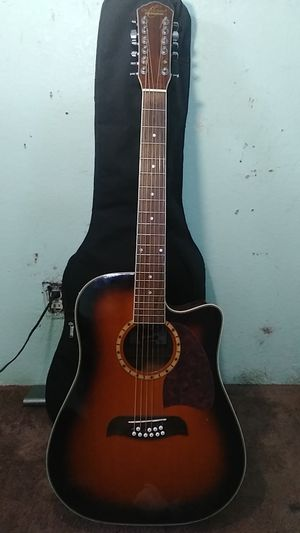 OSCAR SCHMIDT BY WASHBURN 12 STRING ACOUSTIC ELECTRIC GUITAR for Sale in Hemet, CA
