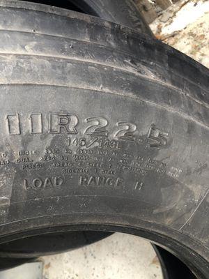 3 trailer tires used , 11R22.5 for Sale in Denver, CO