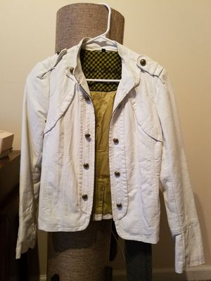 White Steve Madden faux leather jacket size S for Sale in Philadelphia, PA