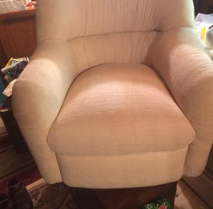 White swivel chair by pier one for Sale in Benzonia, MI